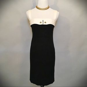 Worth Black and White Strapped Dress